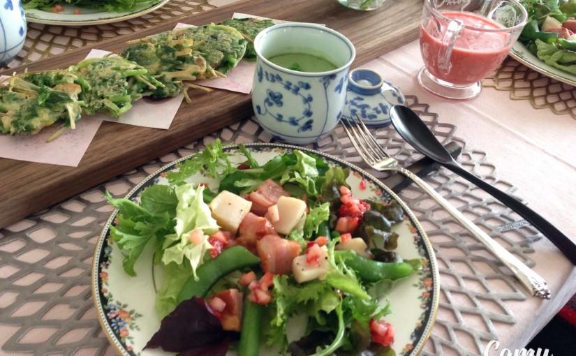 4月の「幸せ薫る喜びおうちごはん料理教室」         おうちでおもてなしクラス