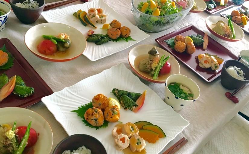 6月の【幸せ薫る喜びおうちごはん料理教室】おうちでおもてなしクラス