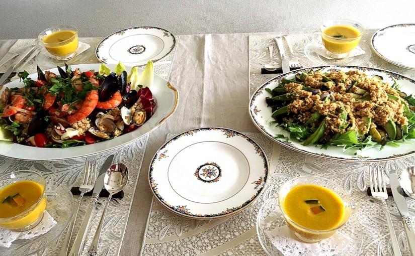 8月の【幸せ薫る喜びおうちごはん料理教室】おうちでおもてなしクラス