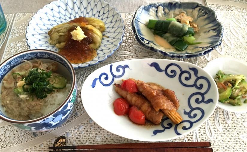 8月の【幸せ薫る喜びおうちごはん料理教室】毎日のごはんクラス
