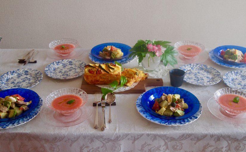 8月の『幸せ薫る喜びおうちごはん料理教室』<br/> おうちでおもてなしクラス