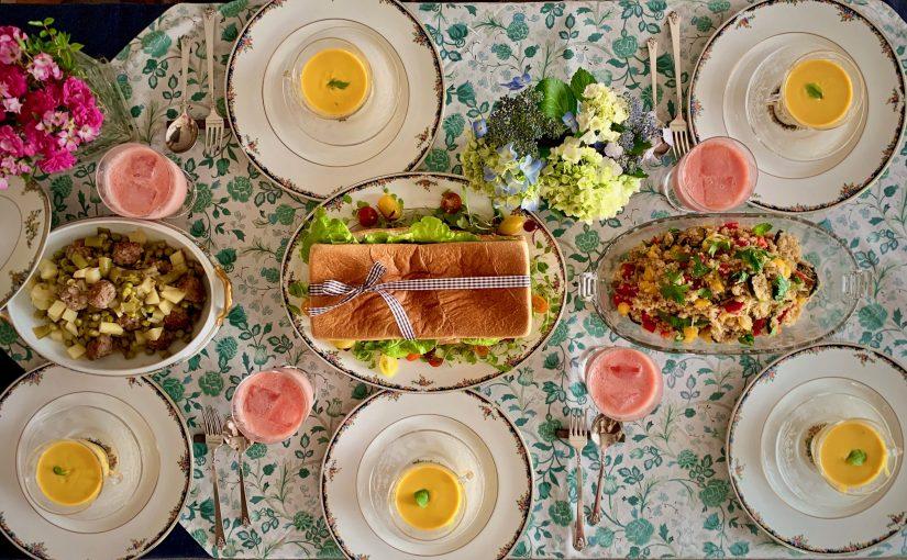 6月の「幸せ薫る喜びおうちごはん料理教室」<br/>おうちでおもてなしクラス